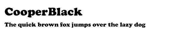 CooperBlack font
