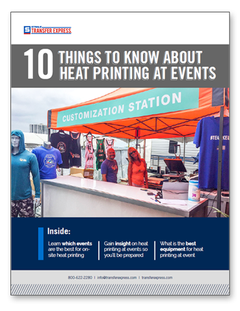 heat printing onsite at events ebook