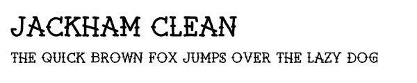 Jackham Clean font