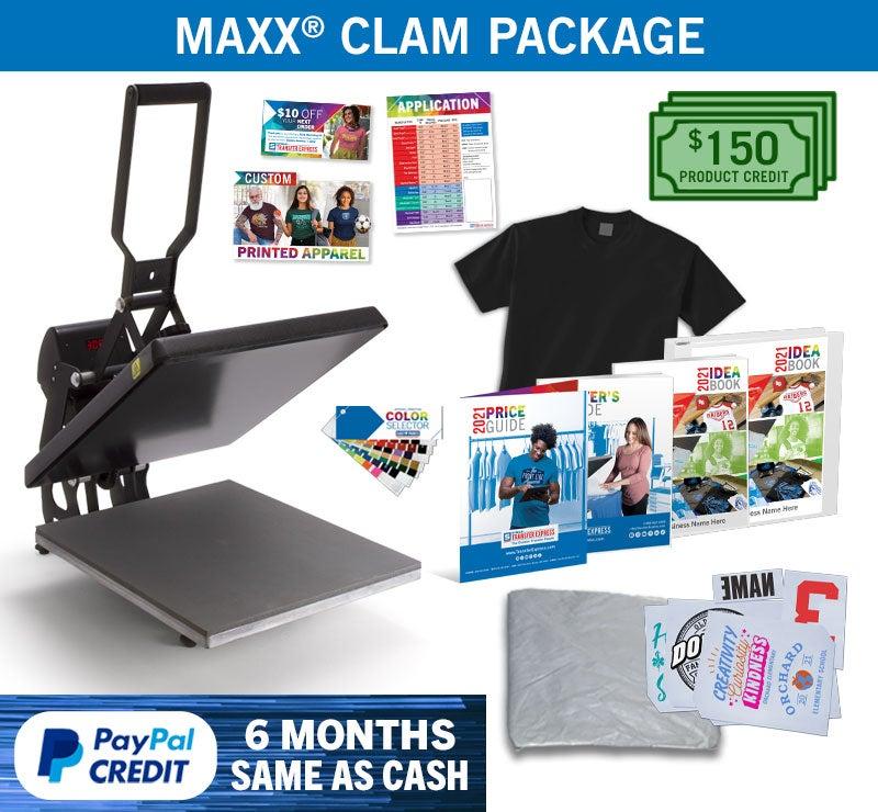 Maxx Clam heat press package