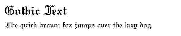 GothicText font