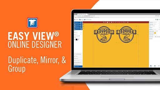 how to duplicate, mirror, and group in Easy View designer