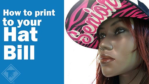 how to print to your hat bill