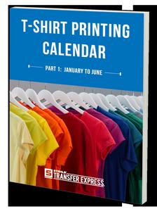 t-shirt printing calendar ebook