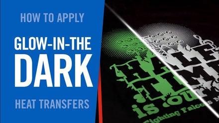 how to apply Glow-in-the-Dark heat transfers