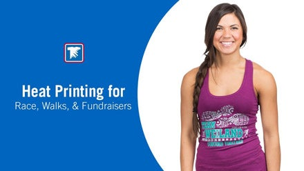 creating custom apparel for races, walks and fundraisers