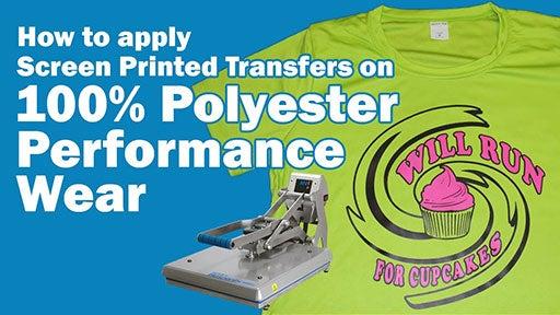 how to apply elasti prints transfers to performance wear