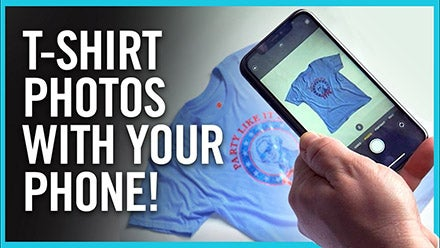 t-shirt photos using your phone