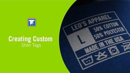 creating custom shirt tags