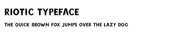Riotic Typeface font