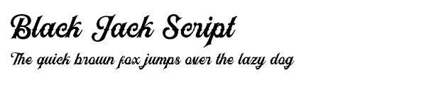 Black Jack Script font