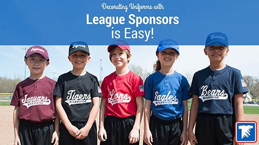 adding league sponsors to baseball uniforms