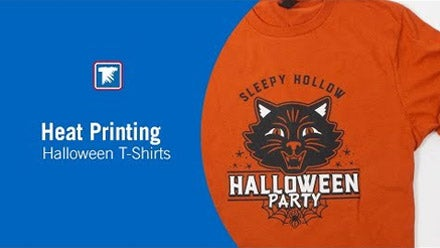 heat printing halloween t-shirts