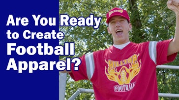 are you ready to create football apparel