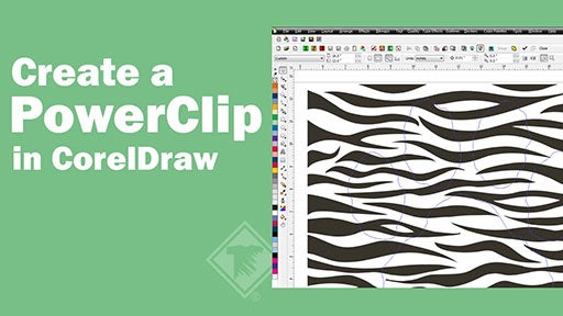 create a powerclip in CorelDraw