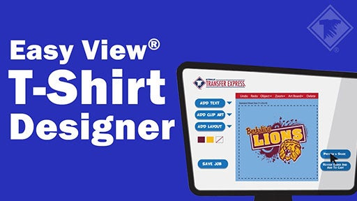 Easy View custom t-shirt transfer designer