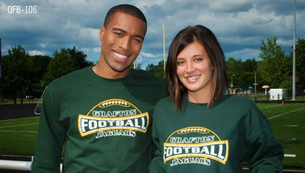 custom printed apparel for football spirit wear