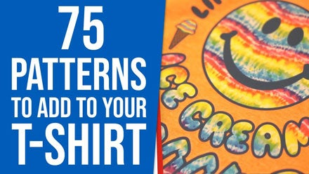 75 patterns to add to your t-shirt printing video