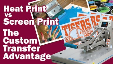 heat printing vs screen printing