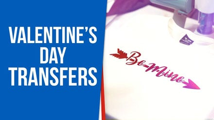 best heat applied transfers for Valentine's Day shirts