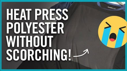 heat press polyester without scorching
