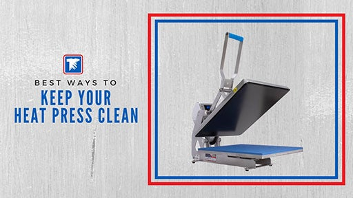 how to clean your heat press