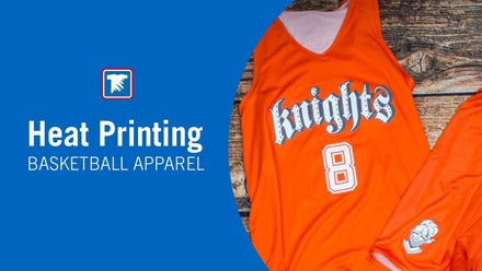heat printing basketball uniforms and apparel