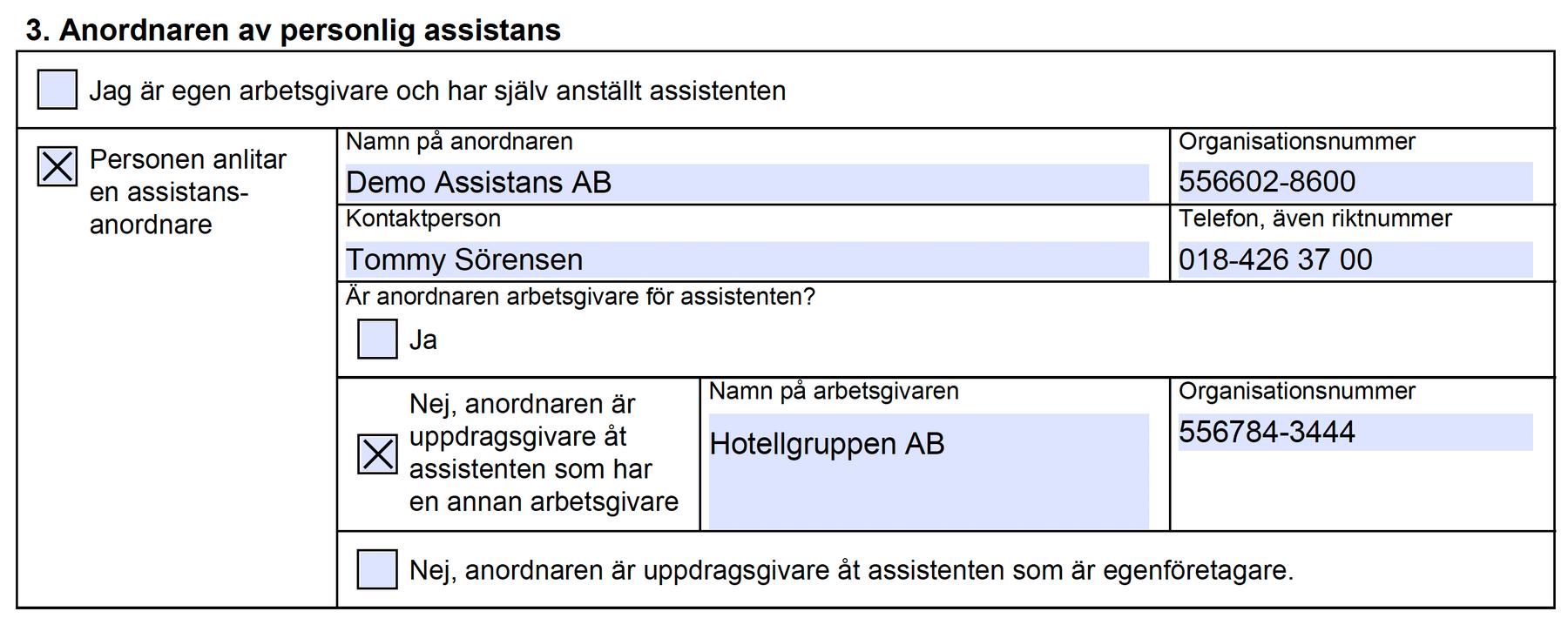 Coordinare fyller automatiskt i tidsredovisningen på korrekt sätt för den inhyrda personalen även om ni använder PDF-blanketten