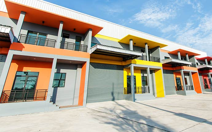 colorful commercial building in san joaquin county