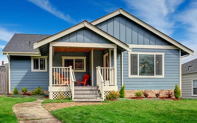 nice little blue house
