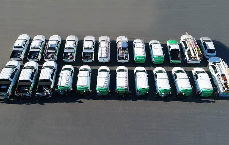 many homeshield company vehicles