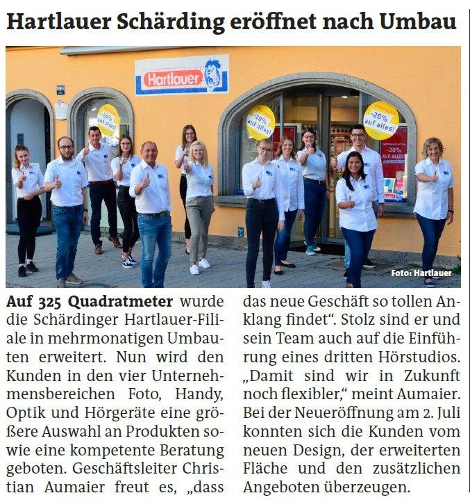 Hartlauer Schärding eröffnet neu nach Umbau
