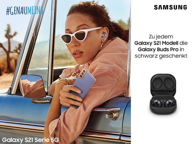 Samsung Galaxy S21 Modelle mit Gratis Galaxy Buds pro sichern