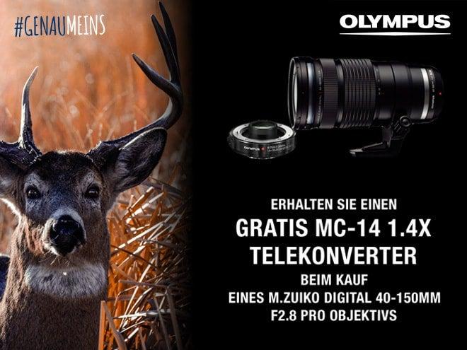 Gratis Telekonverter beim Kauf eines M.Zuiko Digital 50-150mm F2.8 Pro Objektivs