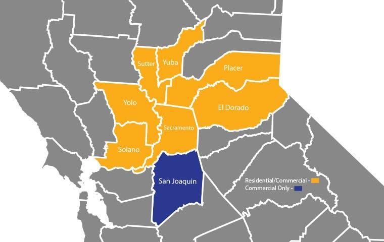 a service area map