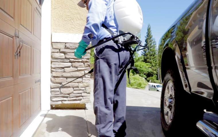 technician treating a home in sacramento california