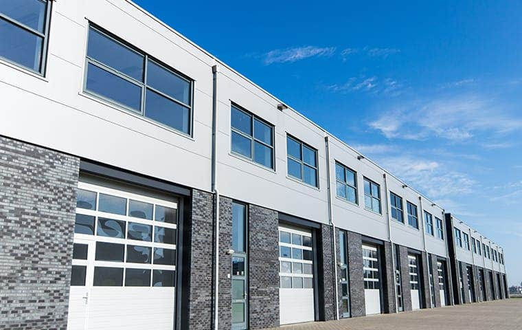 big commercial warehouse building
