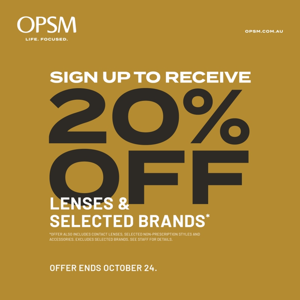 OPSM 20 OFF