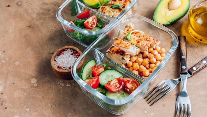 Healthy lunch boxes packed with foods for better skin.