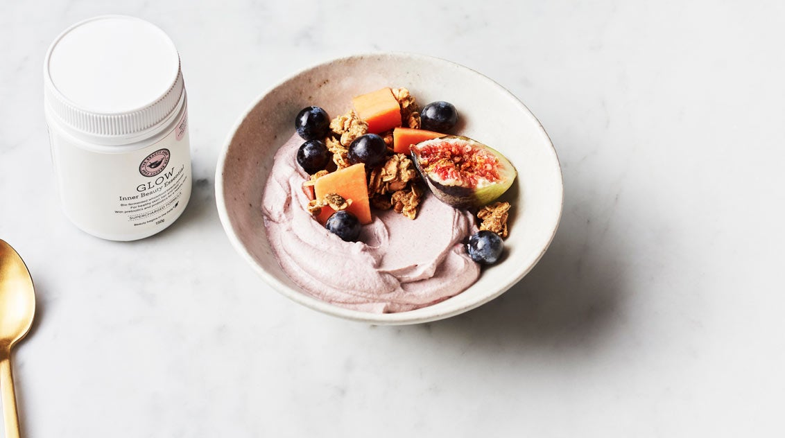 The Beauty Chef GLOW supercharged smoothie bowl