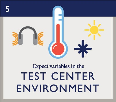 Exam Day 5: Expect variables in the test center environment