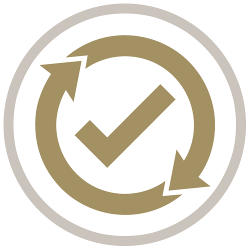 Quality Management Gold Icon