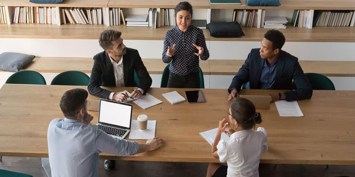 Executives having a meeting