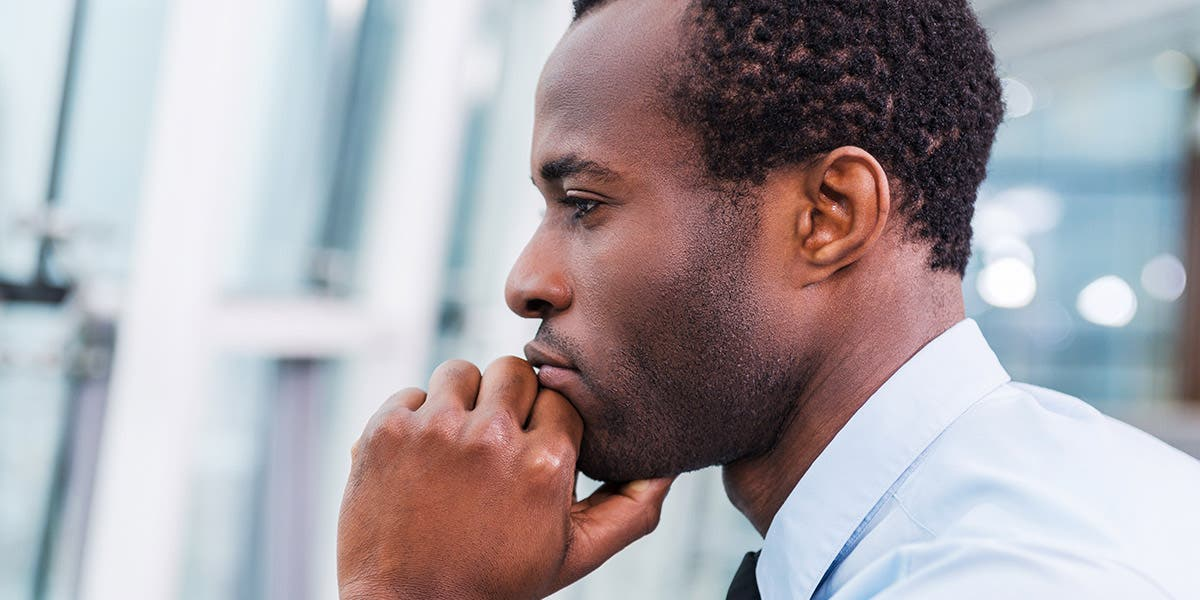 man reflecting on self-awareness and leadership