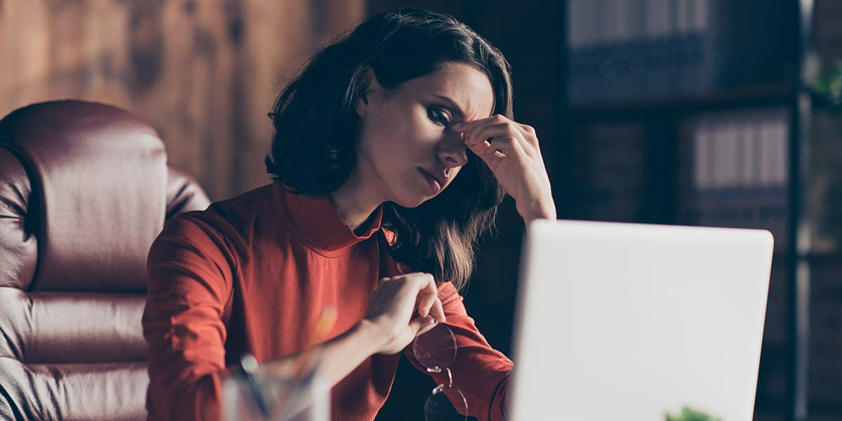 professional women stressed out over executive transitions