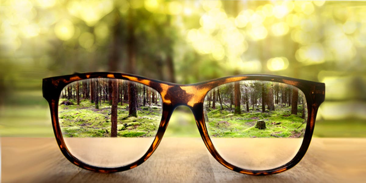 Clear vision, as shown with the glasses, is vital for strategic leaders