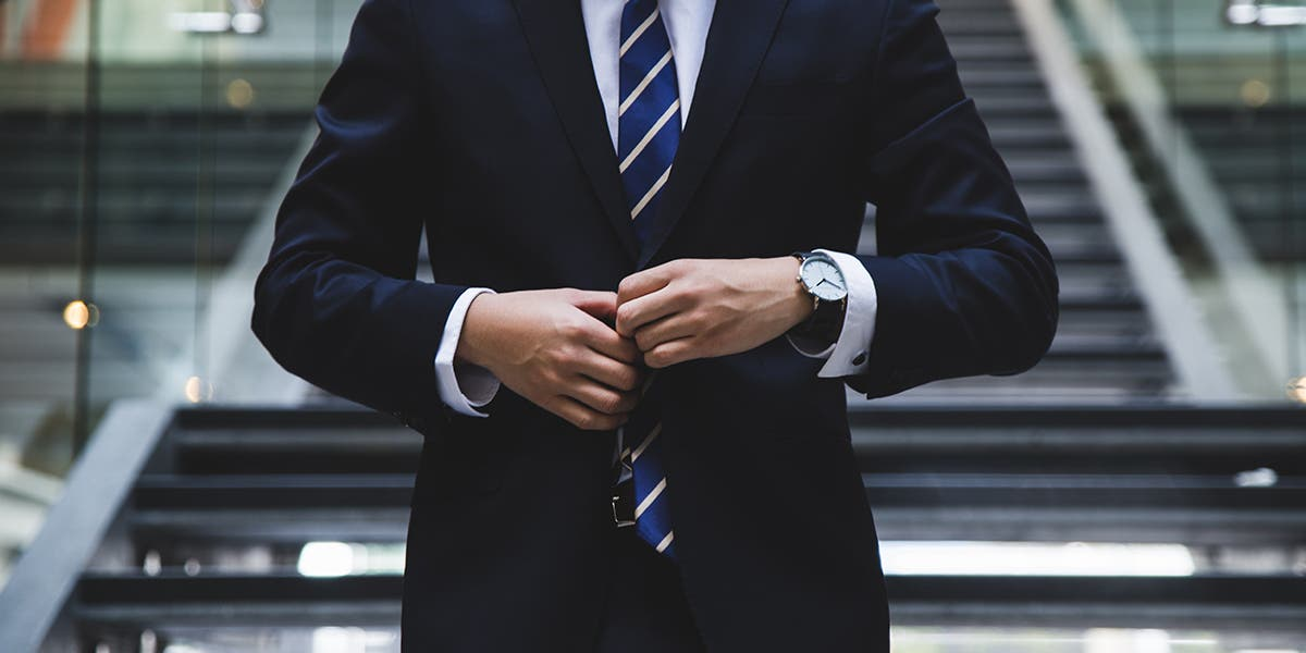 executive wearing a suit