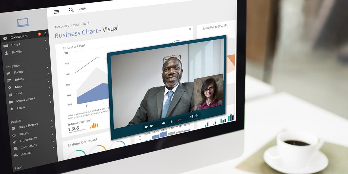 a virtual conference on a computer