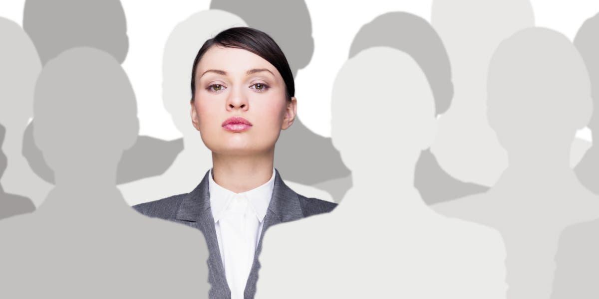 confident female leader