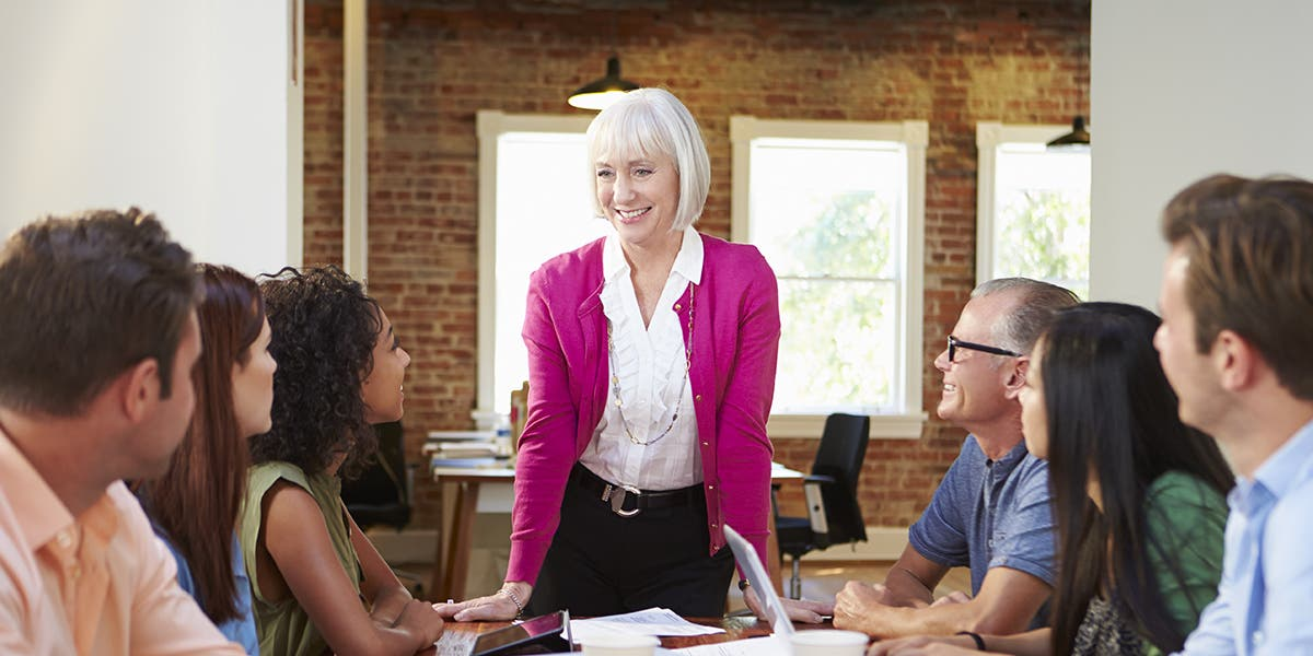 Leader using words more effectively during meeting